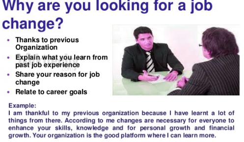 What are you looking for a job change