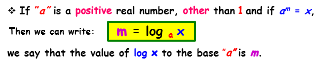 logarithms formula1